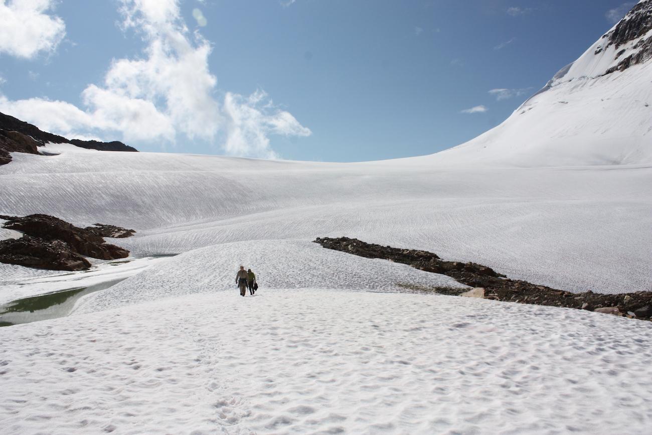 Die VGD bietet ideale Skibedingungen, sogar im Sommer.