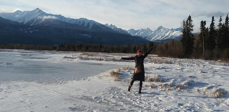 Lisa in der Marsh bei Valemount