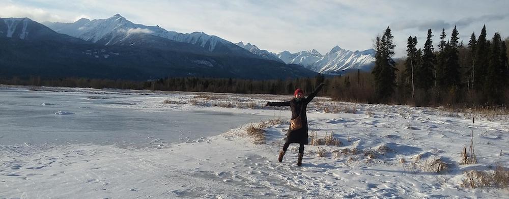 Lisa in der Marsh bei Valemount